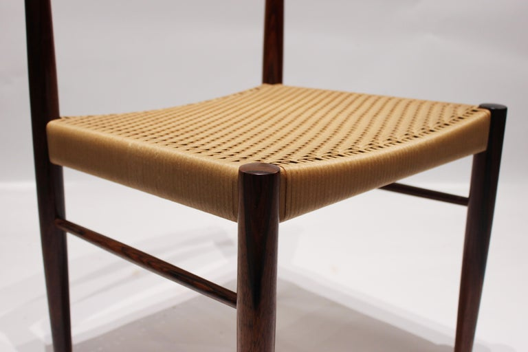 Set of 6 Dining Chairs in Rosewood, by H.W. Klein and Bramin, 1960s For Sale 1