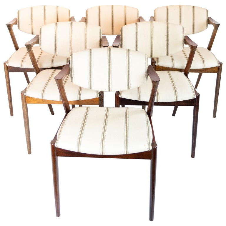 Set of 6 Dining Chairs, Model 42, Designed by Kai Kristiansen, 1960s For Sale
