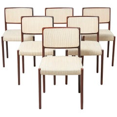 Set of 6 Dining Chairs, Model 80 by Niels 0. Møller