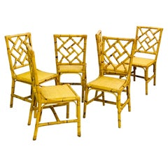 Set of 6 Dining Rattan Chairs