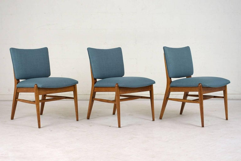 Mid-Century Modern Set of Six Dining Room Chairs by John Keal for Brown Saltman For Sale