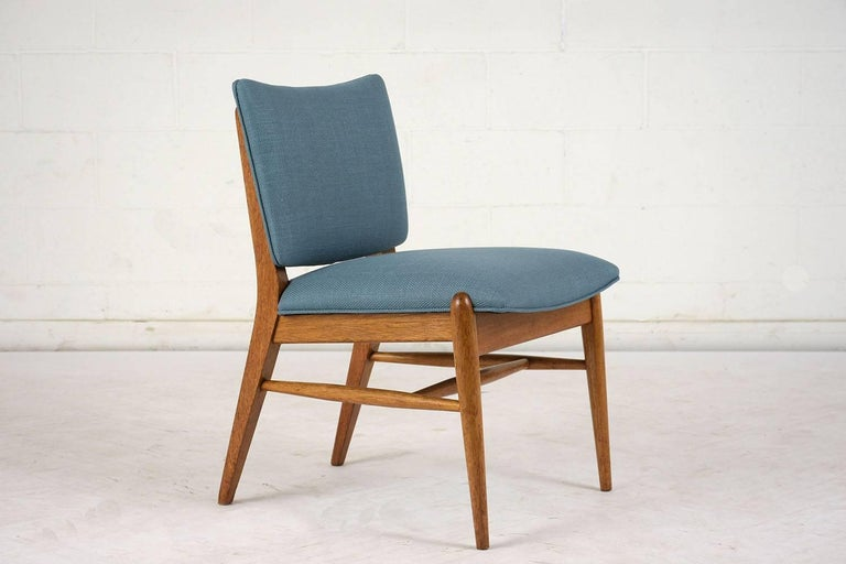 Carved Set of Six Dining Room Chairs by John Keal for Brown Saltman For Sale