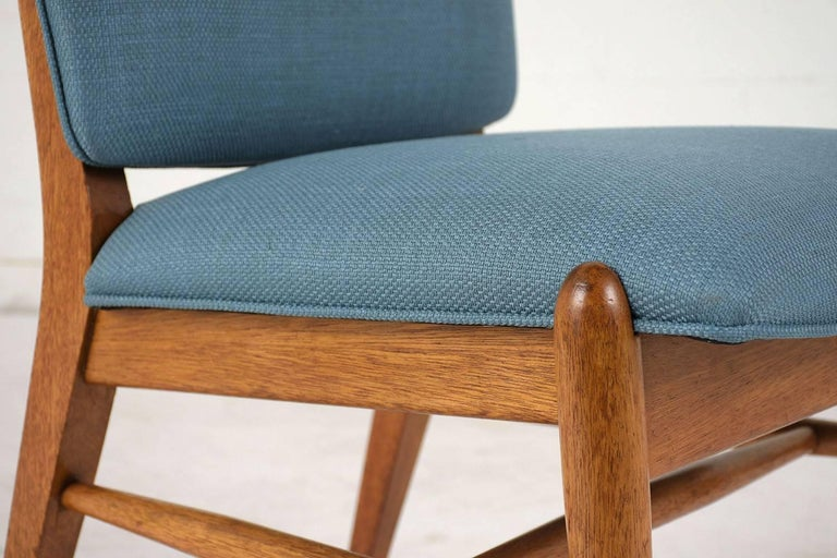 Teak Set of Six Dining Room Chairs by John Keal for Brown Saltman For Sale