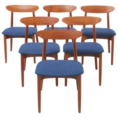 Set of 6 Dinning Chairs by Harry Østergaard
