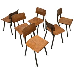 Set of 6 Dutch Marko School Chairs