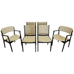 Set of 6 Ebonized Dining Chairs by Erk Buch
