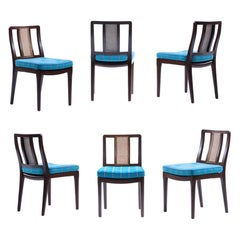 Set of 6 Edward Wormley for Dunbar Dining Chairs with Cane Backs, circa 1958