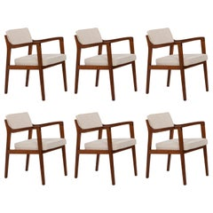 Set of 6 Edward Wormley for Dunbar Riemerschmid Style Dining Chairs