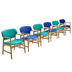 Set of 6 Einar Larsen & Aksel Bender-Madsen Armchairs
