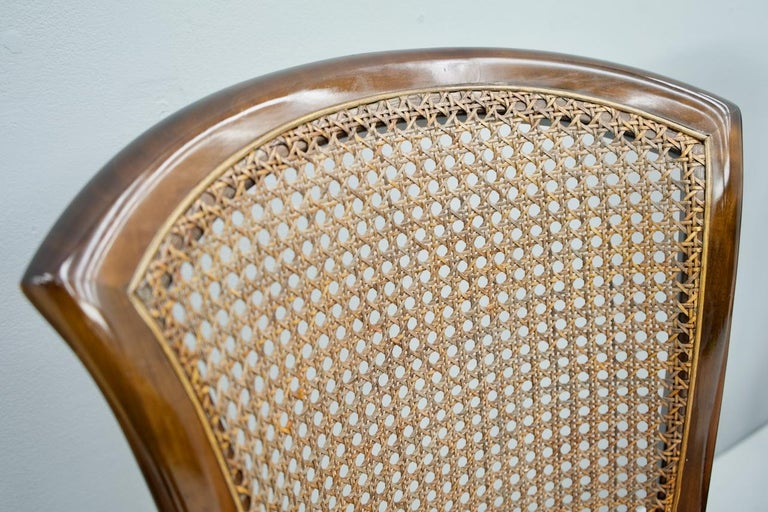 Set of 6 Elegant Chairs in Mahogany and Cane WK, Germany, 1970s For Sale 2