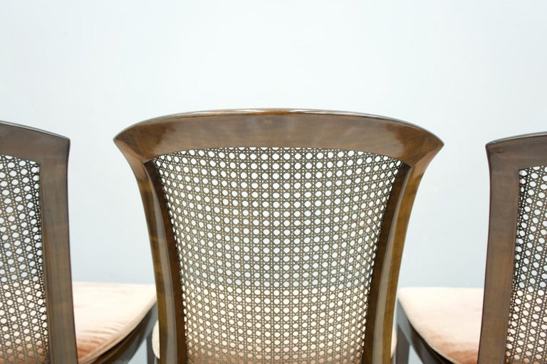 Set of 6 Elegant Chairs in Mahogany and Cane WK, Germany, 1970s For Sale 3