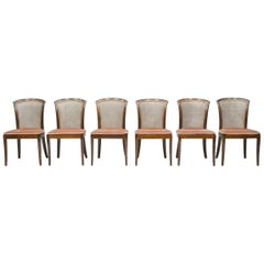 Set of 6 Elegant Chairs in Mahogany and Cane WK, Germany, 1970s