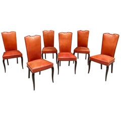 Set of 6 Elegants French Art Deco Chairs
