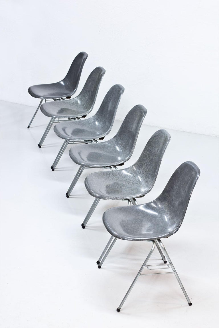 "Set of six ""DSS"" (Dining height, side chair,