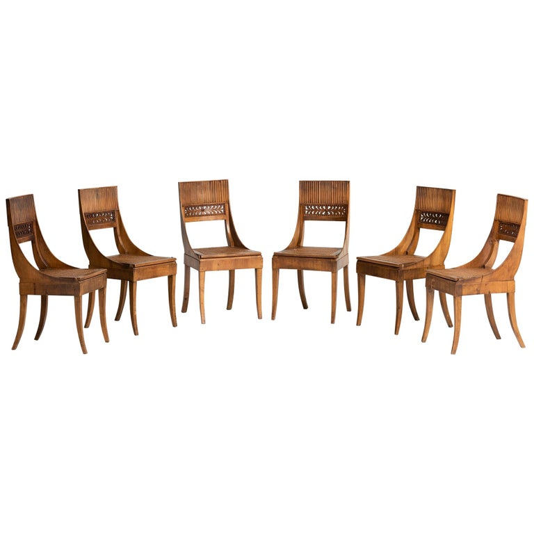 Set of '6' Empire Chairs For Sale