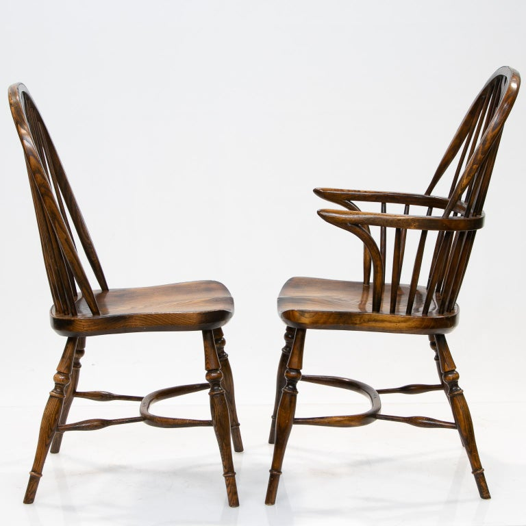 Other Set of 6 English Windsor Dining Chairs For Sale