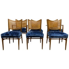 Set of 6 Erno Fabry Cane Back Dining Chairs