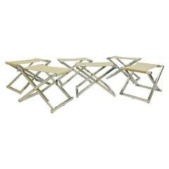 Set of 6 Folding Stools, 1970s