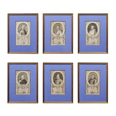 Set of 6 Framed 19th Century European Ecclesiastical Engravings