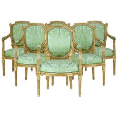Set of 6 French 19th Century Gilt Armchairs