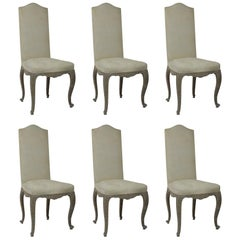 Set of 6 French Antique Louis XV Style Dining Chairs