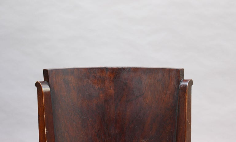 Set of 6 French Art Deco Palissander and Stained Wood Dining Chairs For Sale 12