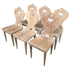 Set of 6 French Arte Populaire Dining Chairs