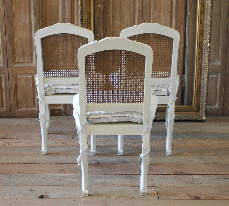 Dining Chairs On Sale: Set Of 6 French Country Louis XV Style Cane Back Dining