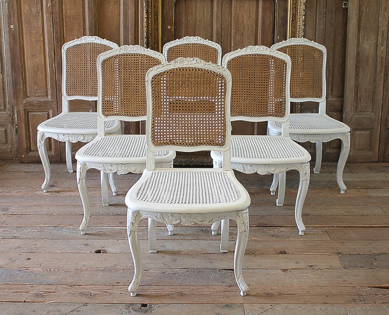 Fine Set Of 6 French Country Louis Xv Style Cane Back Dining Chairs Pabps2019 Chair Design Images Pabps2019Com