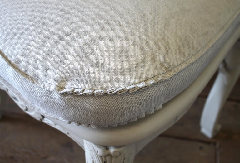Set of 6 French Country Louis XV Style Cane Back Dining Chairs For Sale 2
