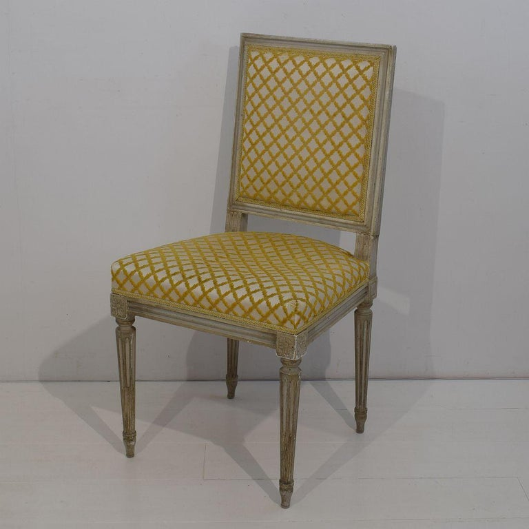 Set of 6 French Early 20th Century Louis XVI Style Dining Chairs In Good Condition For Sale In Amsterdam, NL