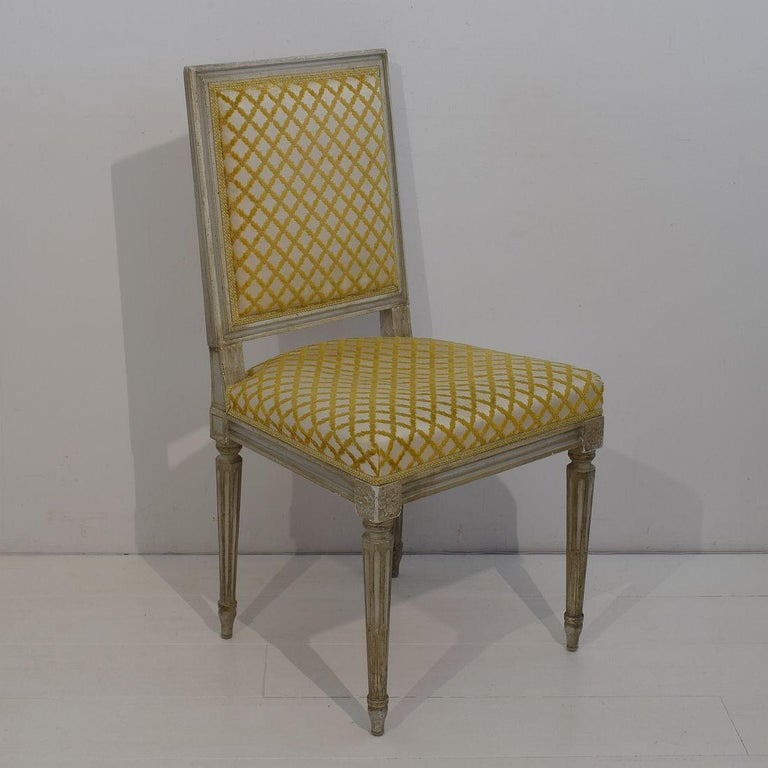 Set of 6 French Early 20th Century Louis XVI Style Dining Chairs For Sale 1