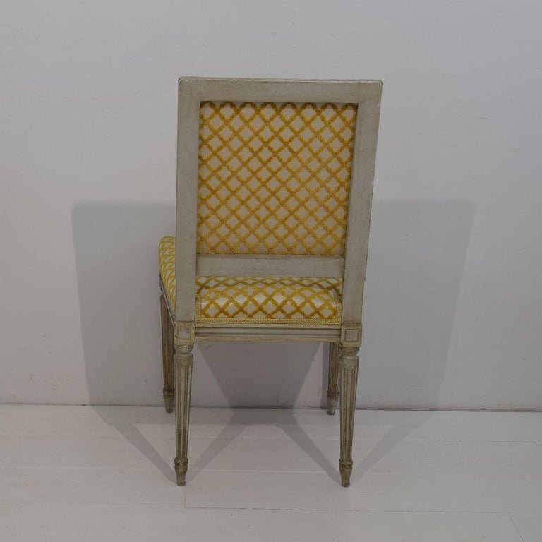 Set of 6 French Early 20th Century Louis XVI Style Dining Chairs For Sale 3
