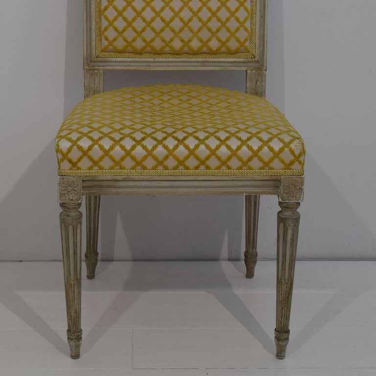 Set of 6 French Early 20th Century Louis XVI Style Dining Chairs For Sale 6