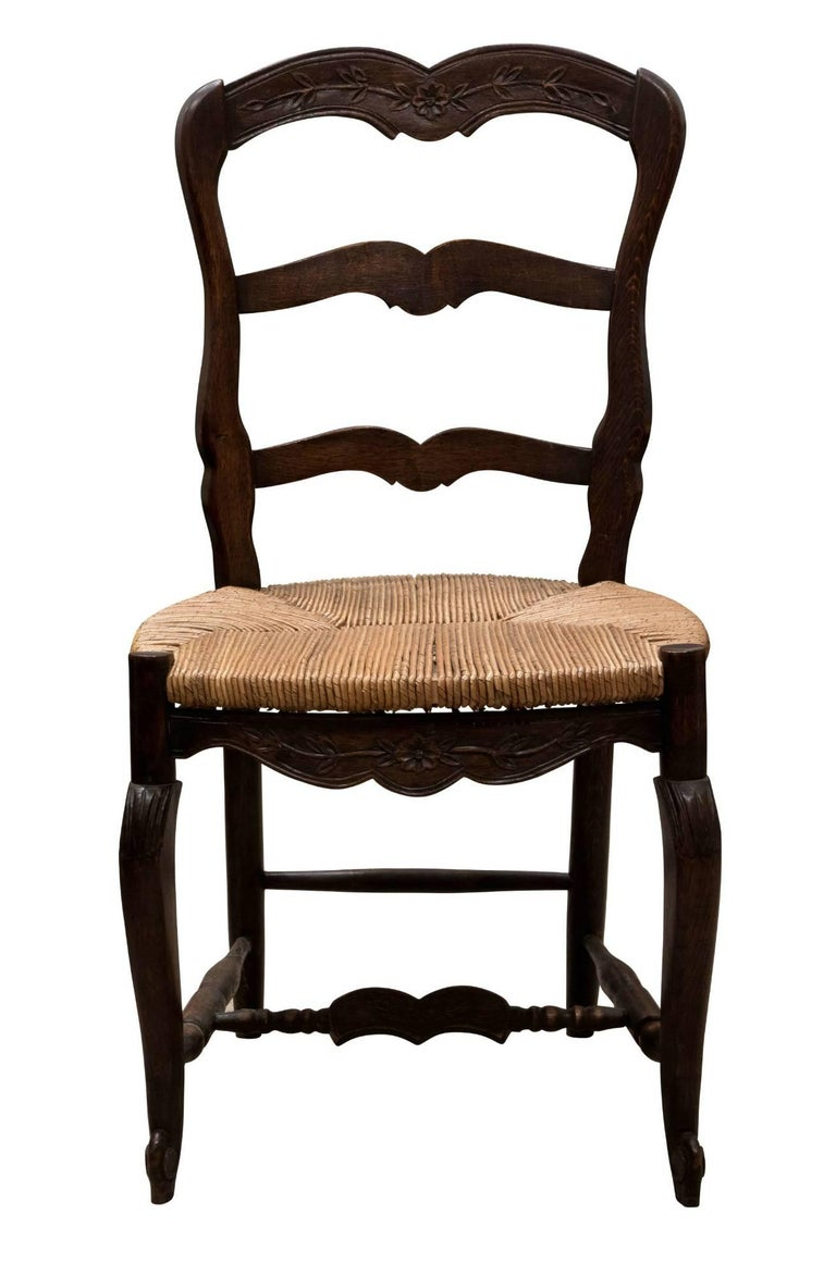 A set of six French ladder back Chairs, circa 1920.