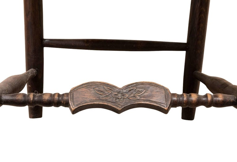 Set of 6 French Ladder Back Chairs c1920 For Sale 5