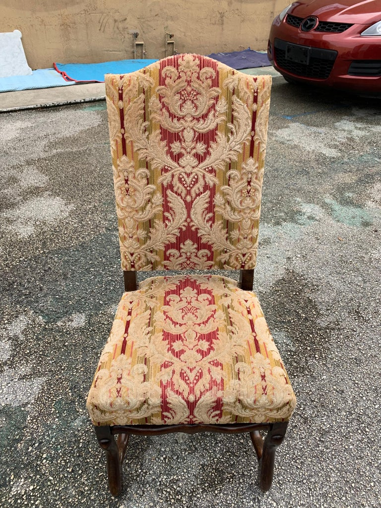 Set of 6  French Louis XIII Style Os De Mouton Dining Chairs, 1900s For Sale 12