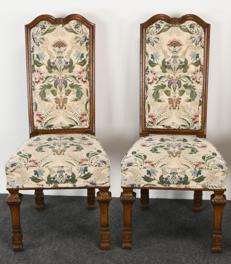 Set of 6 French Louis XIV Dining Chairs by Auffray Furniture, 1980s In Good Condition For Sale In Hamburg, PA