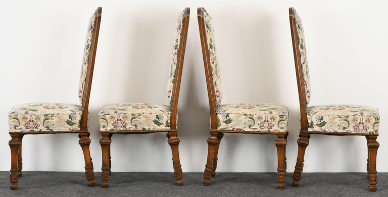 Set of 6 French Louis XIV Dining Chairs by Auffray Furniture, 1980s For Sale 1