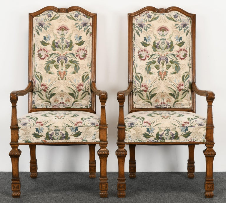 Set of 6 French Louis XIV Dining Chairs by Auffray Furniture, 1980s For Sale 2