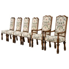 Set of 6 French Louis XIV Dining Chairs by Auffray Furniture, 1980s