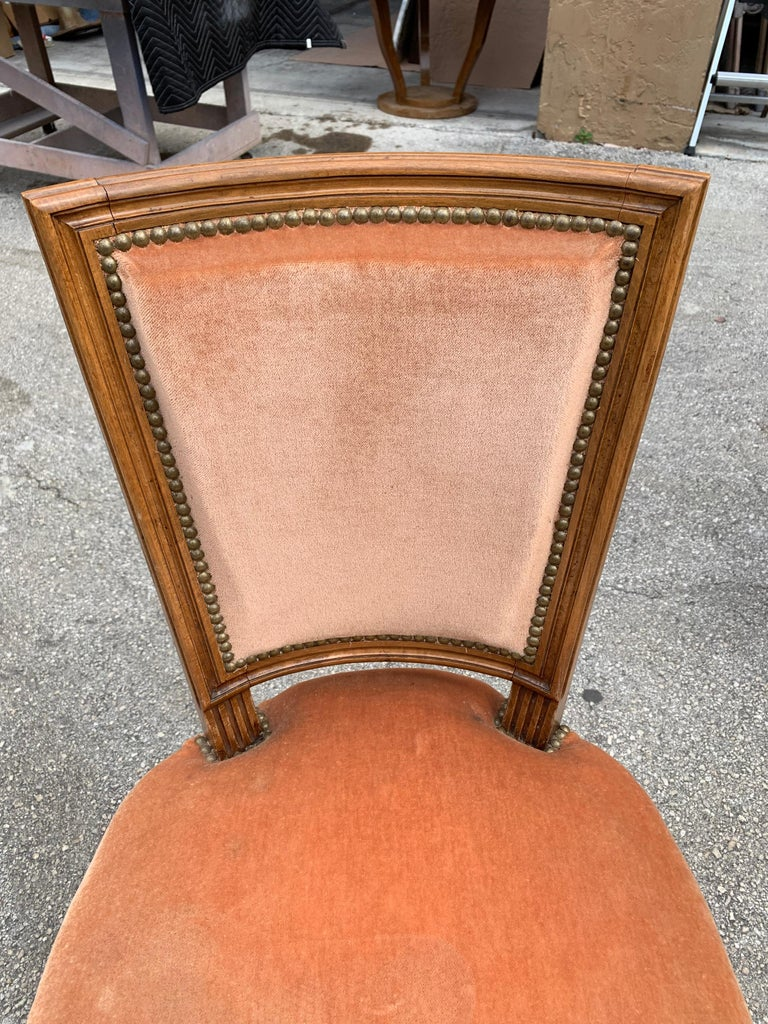 Set of 6 French Louis Xvl Solid Mahogany Dining Chairs, 1910s For Sale 10