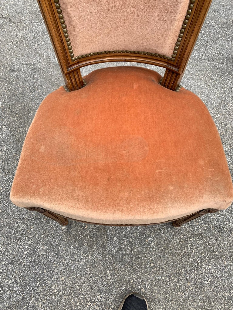 Set of 6 French Louis Xvl Solid Mahogany Dining Chairs, 1910s For Sale 12