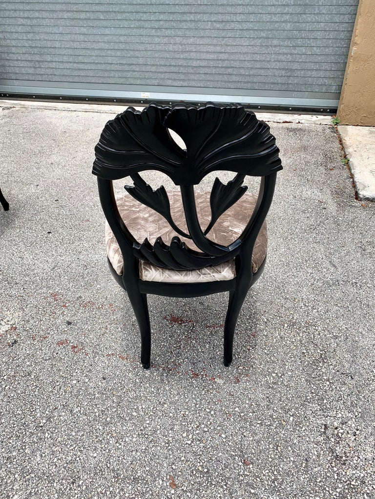 Set of 6 French Mid-Century Modern Dining Chairs, 1960s For Sale 6