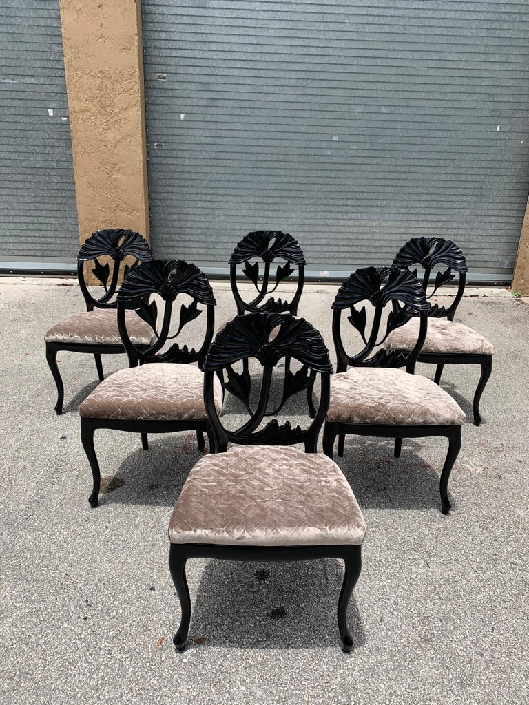 Set of 6 French Mid-Century Modern Dining Chairs, 1960s For Sale 11
