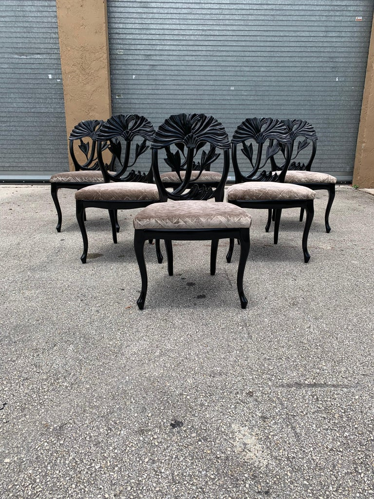 Set of 6 French Mid-Century Modern Dining Chairs, 1960s For Sale 13