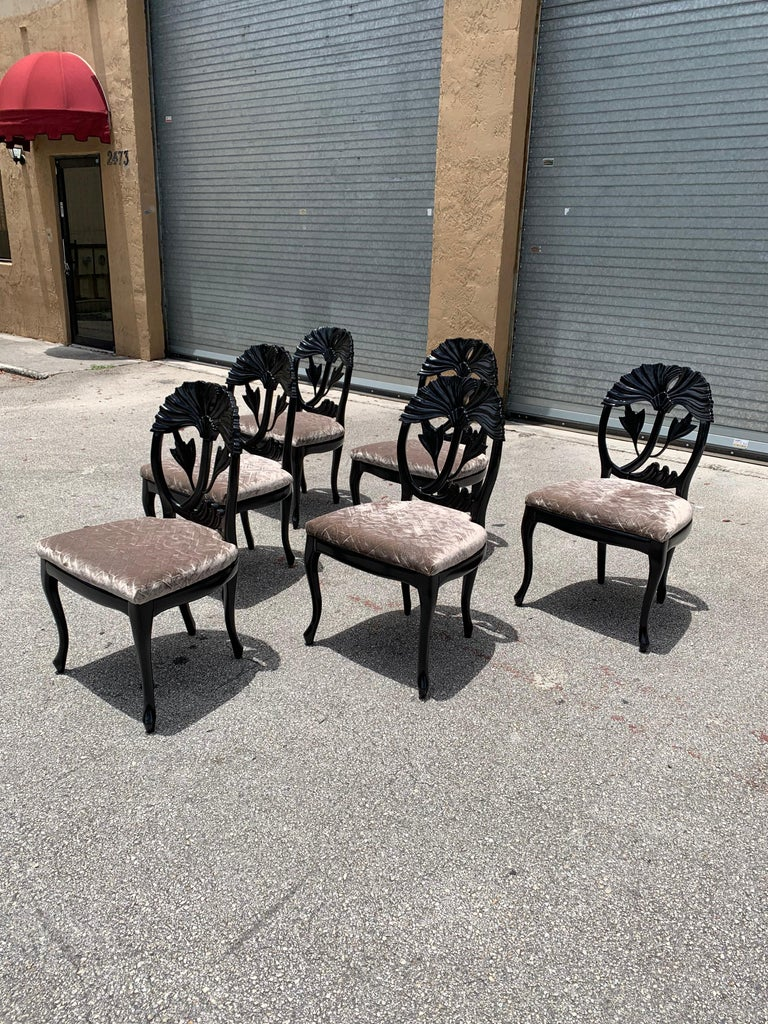Set of 6 French Mid-Century Modern Dining Chairs, 1960s For Sale 1