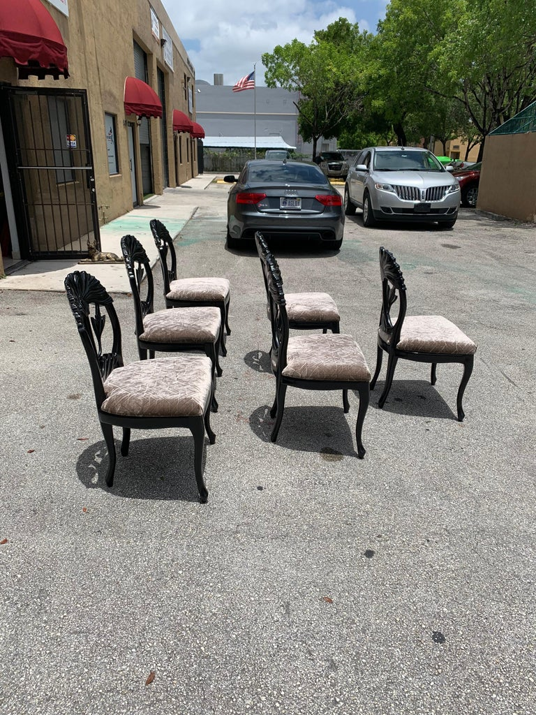 Set of 6 French Mid-Century Modern Dining Chairs, 1960s For Sale 3