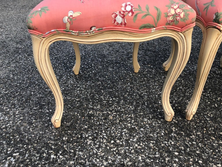 Set of 6 French Provincial Chairs with Chinoiserie Upholstery For Sale 14