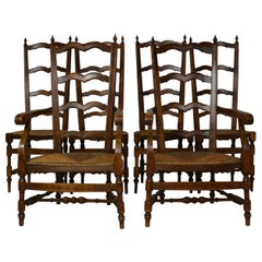 Set of 6 French Provincial Ladder-Back Chairs